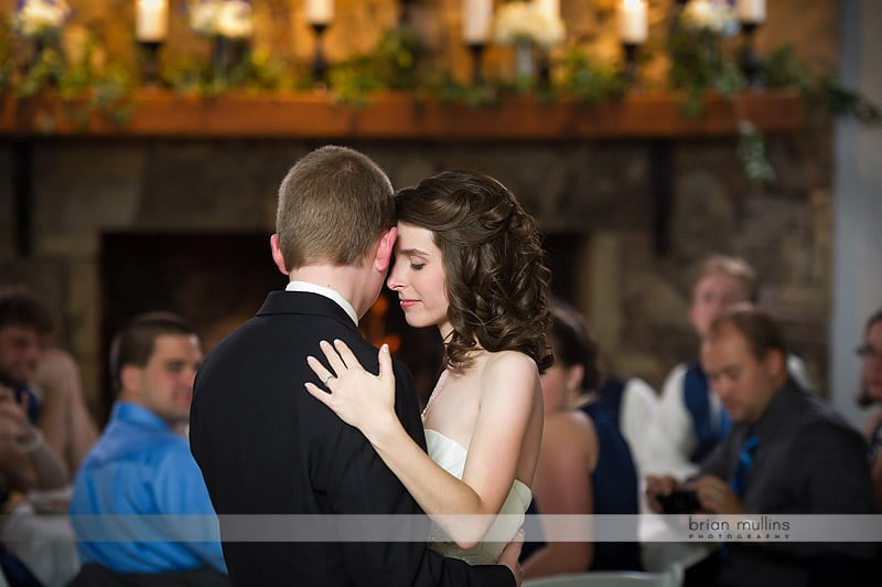 photo of bride and grooms first dance