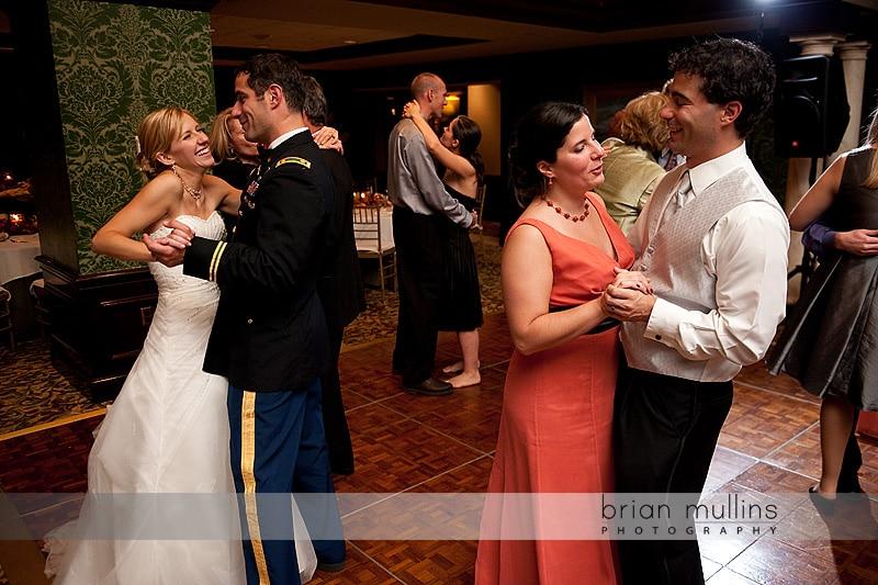 Cardinal Club wedding reception dancing