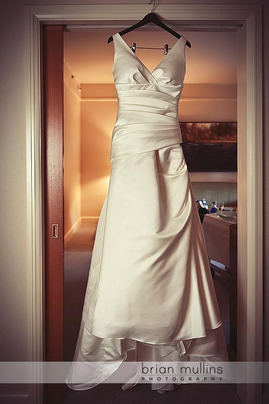 Wedding dress at Umstead Hotel