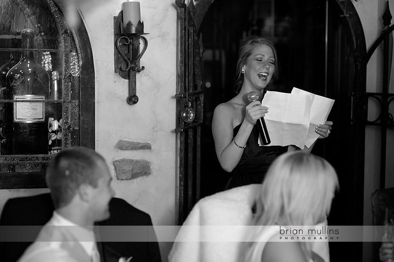 sister toasting bride at angus barn wedding