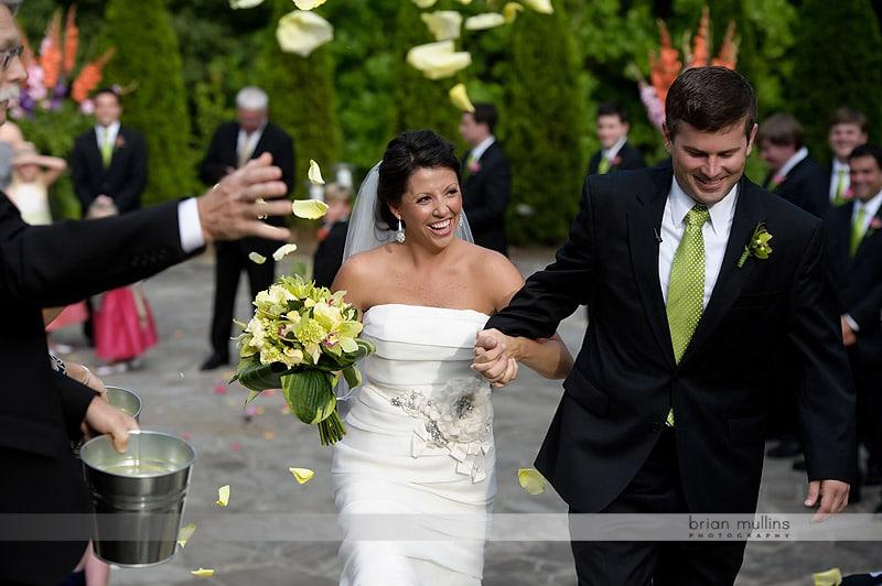 wedding rose petal recessional