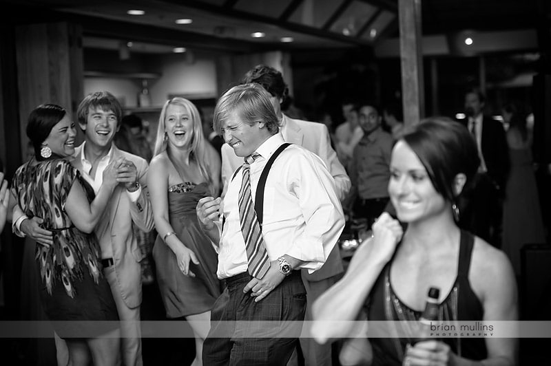 wedding reception air guitar