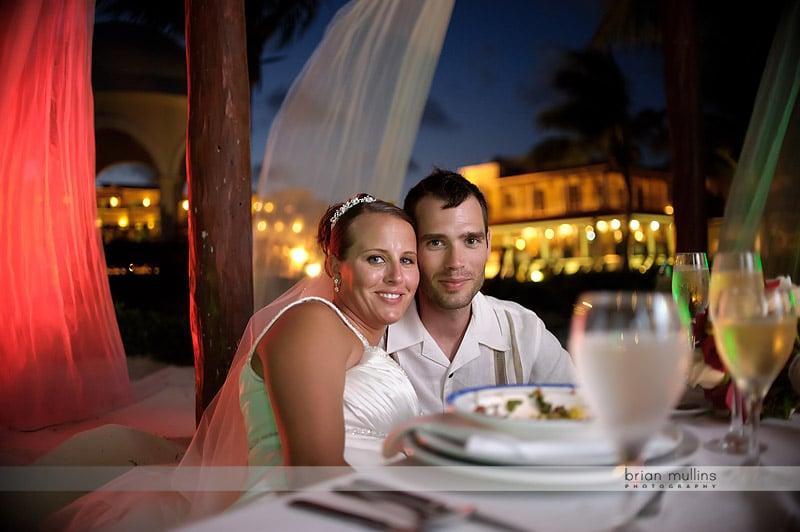 wedding reception dinner at secrets capri