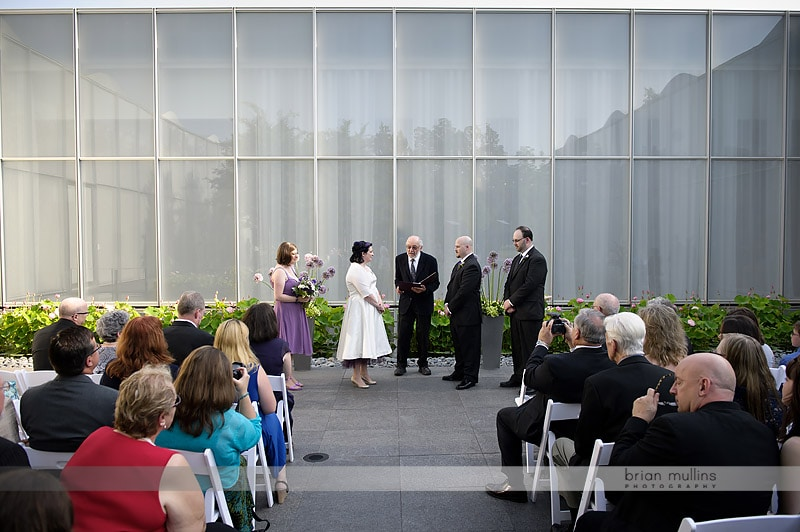 wedding ceremony at nc museum of art