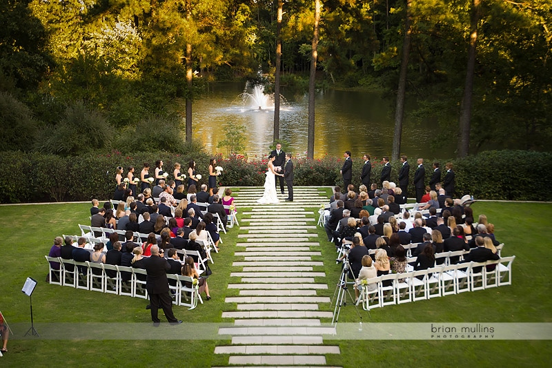 outside wedding ceremony at umstead hotel and spa