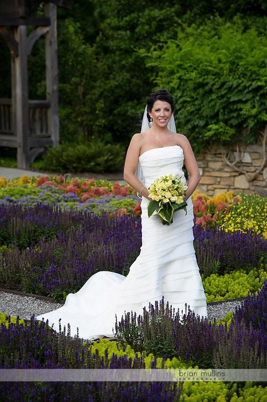 NC Arboretum bridal portrait