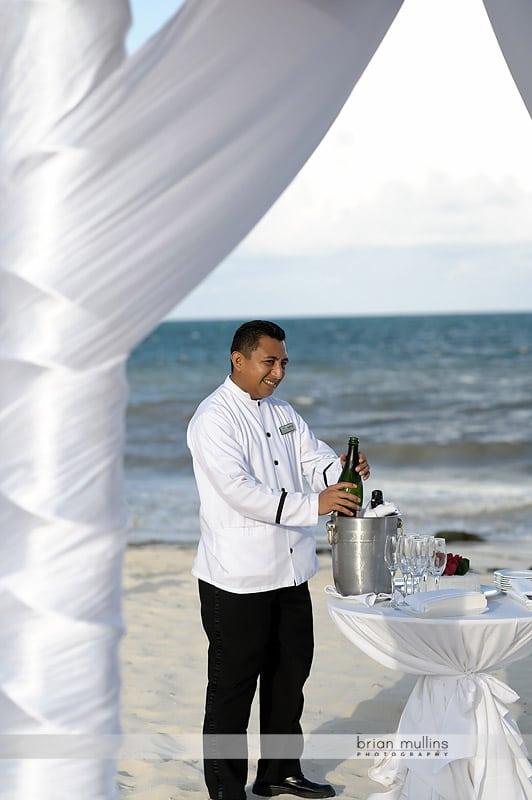 champagne celebration at wedding