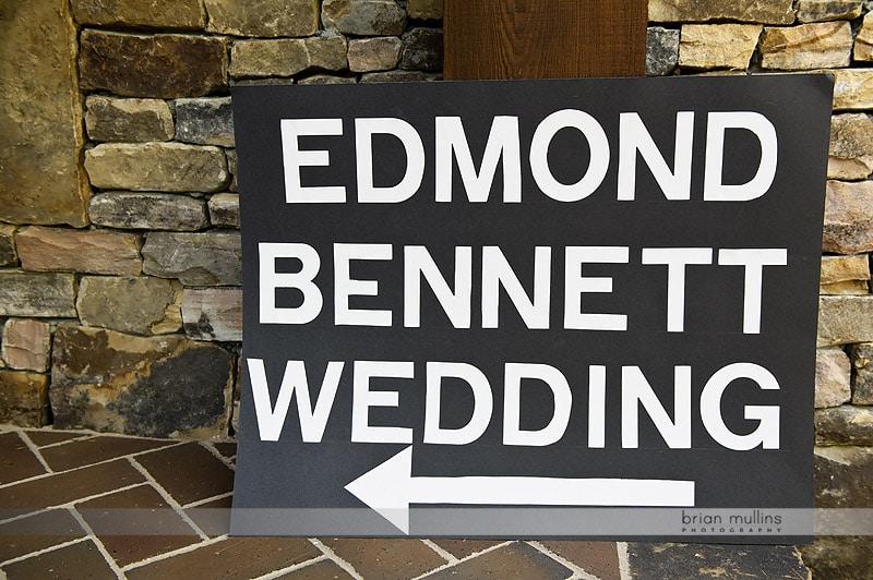 homemade wedding sign