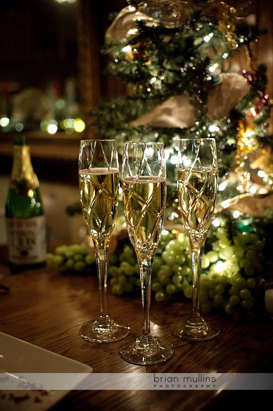 champagne at angus barn wine cellar