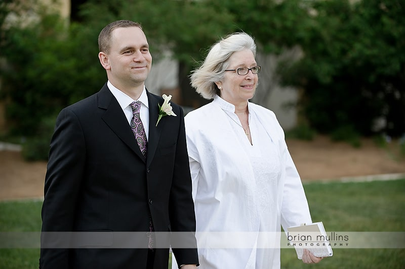groom walking up the aisle