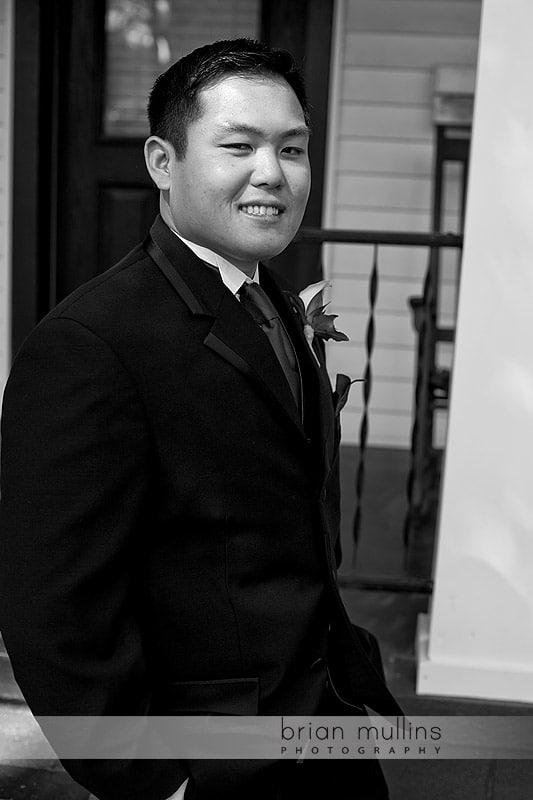 groom portrait at preston woodall house