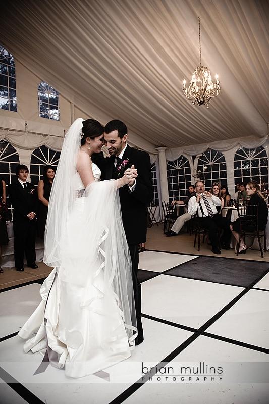 bride & groom 1st dance at wedding reception