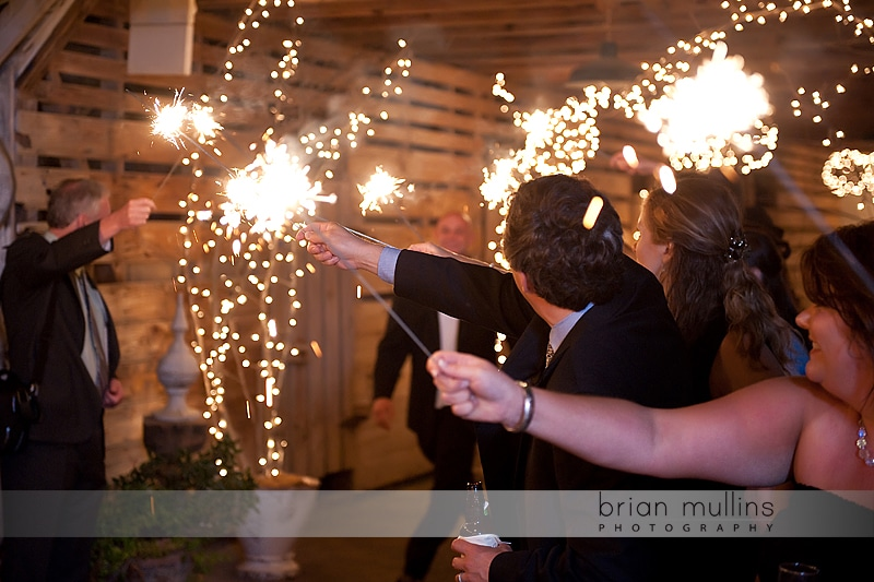wedding sparkler sendoff