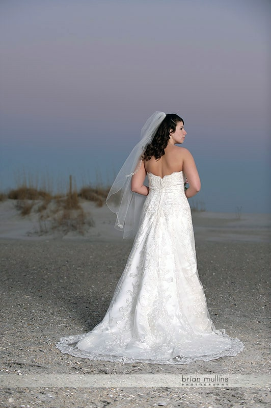 bridal portrait at wrightsville beach