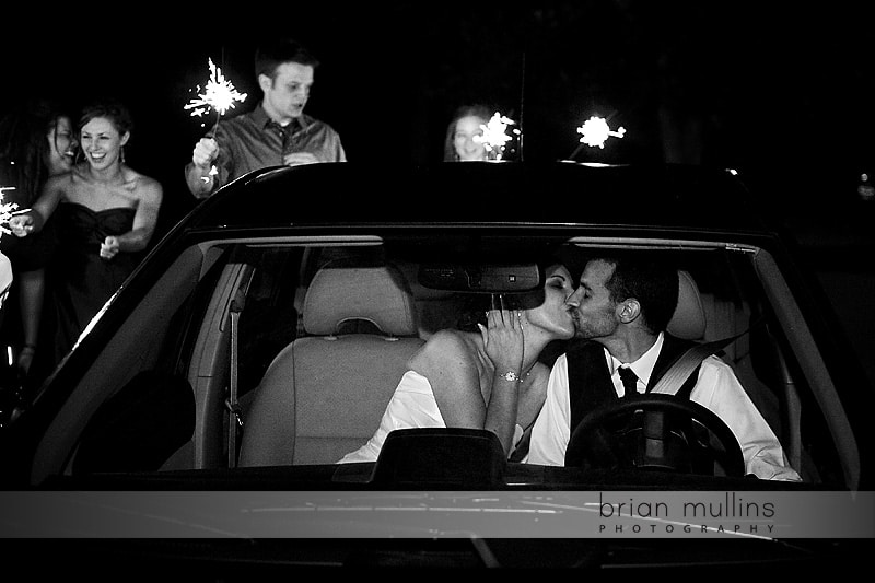 Raleigh Wedding Photographer - Couple leaving reception