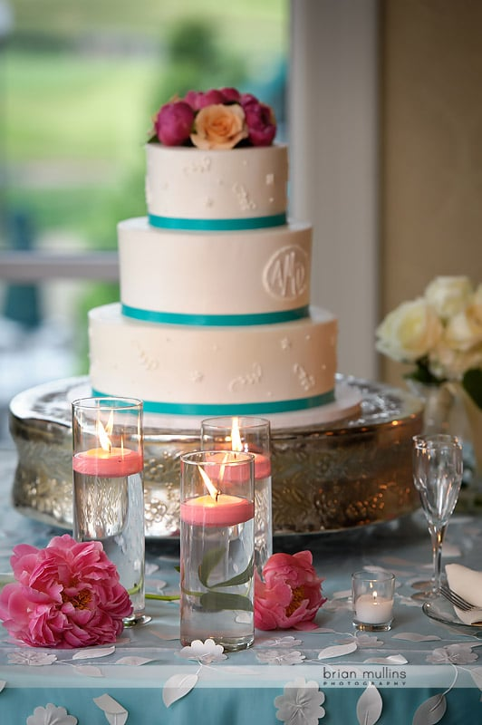 wedding cake and candles