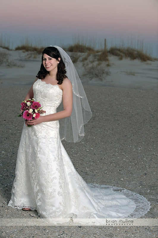 bridal portraits at wrightsville beach
