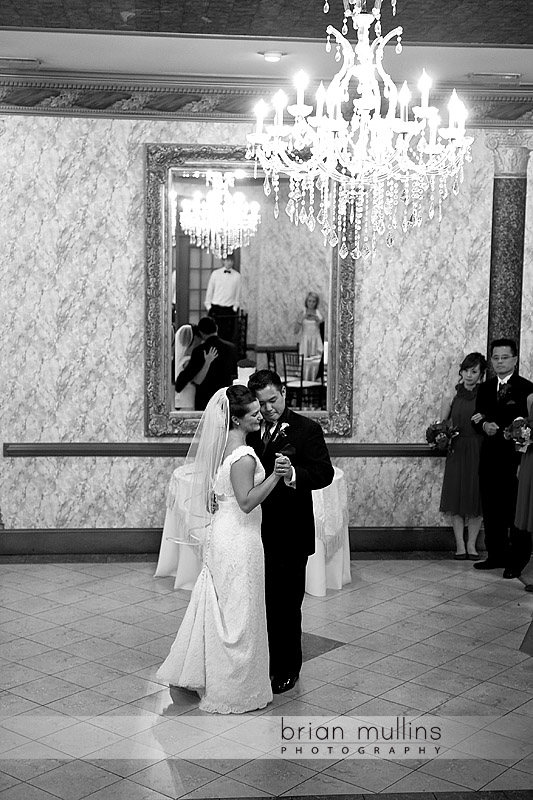 bride and grooms first dance