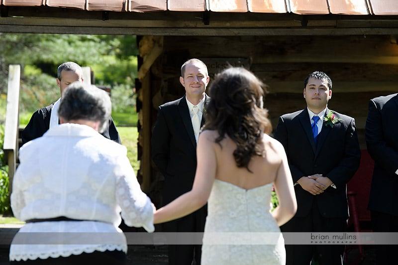 wedding ceremony at mast farm inn