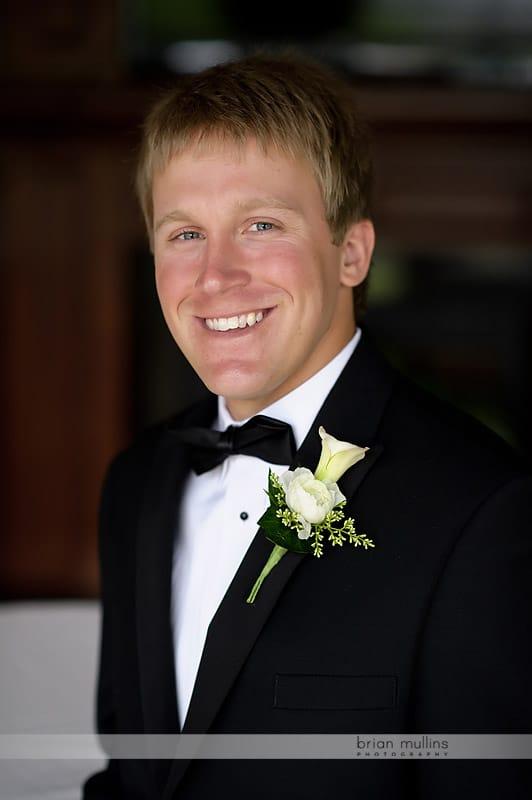 wedding day grooms portrait