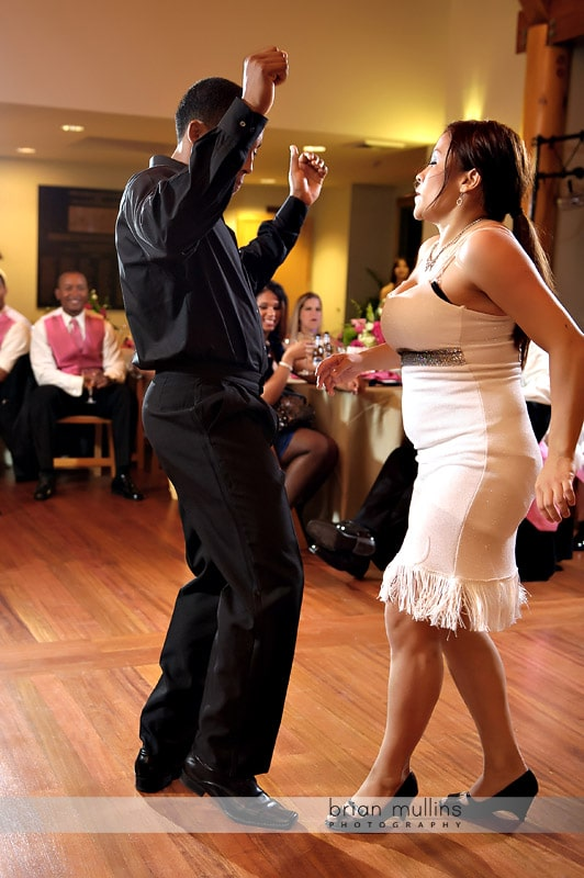 salsa dancers at wedding
