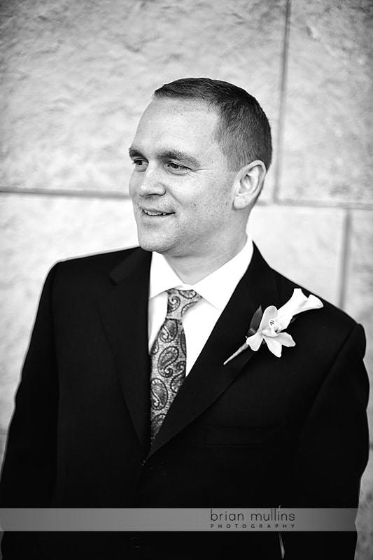 Umstead hotel wedding groom portrait