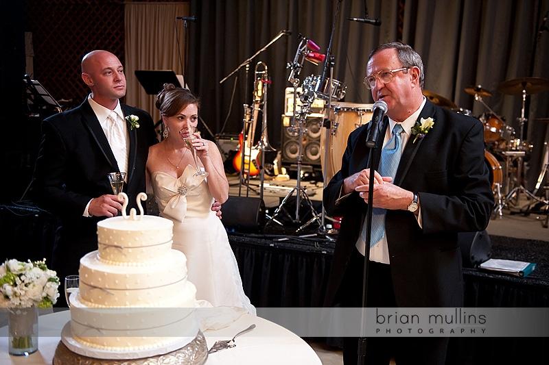 wedding toast at Fearrington