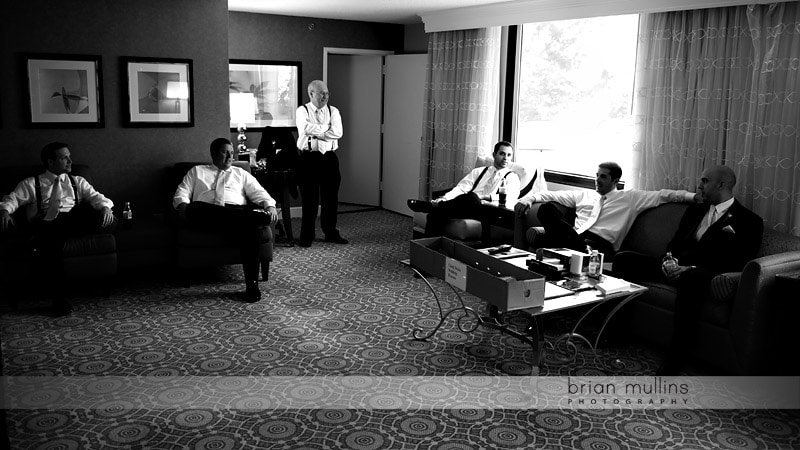 groomsmen before wedding