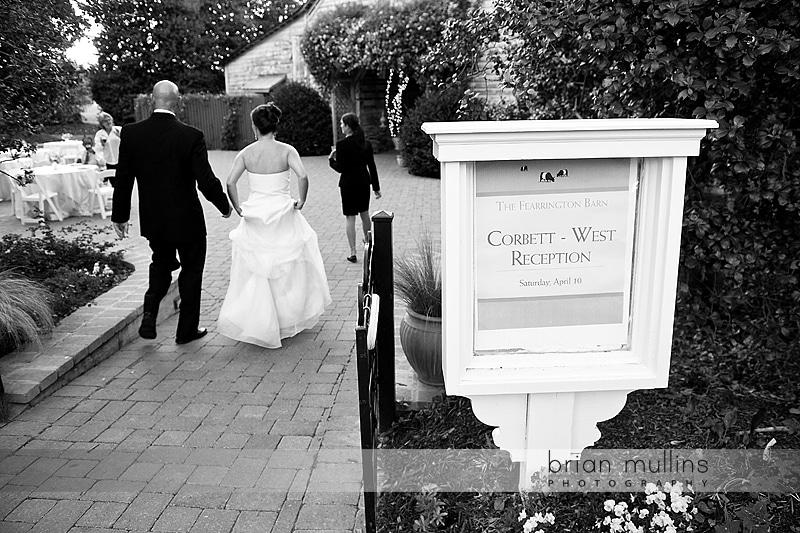 fearrington wedding reception in barn