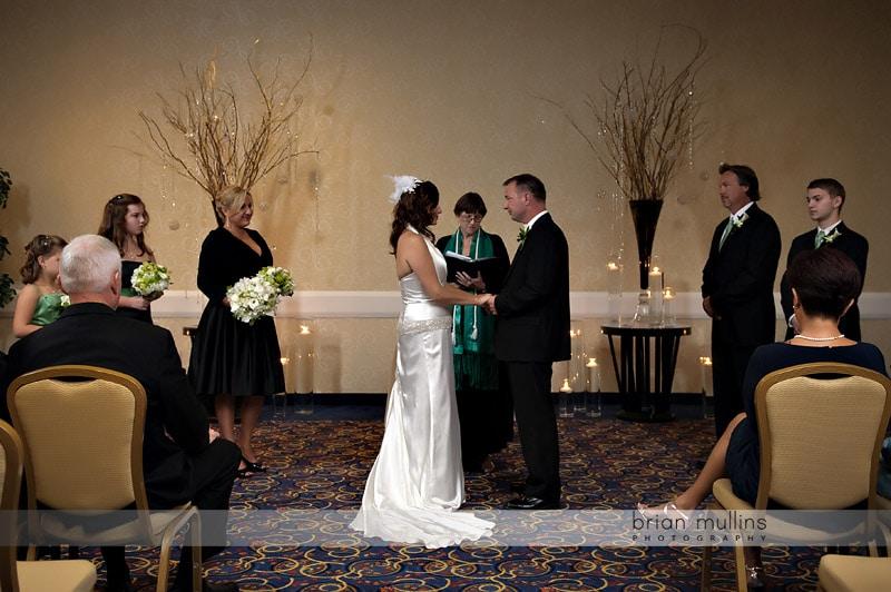 wedding at crabtree valley marriott