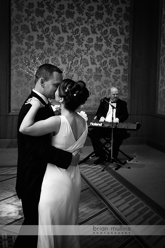 1st dance at umstead hotel wedding