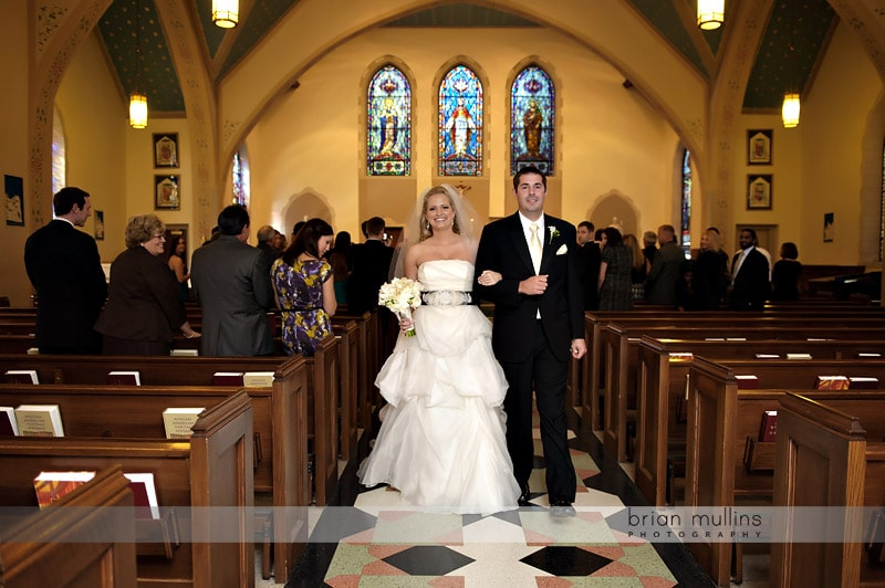 downtown raleigh wedding recessional