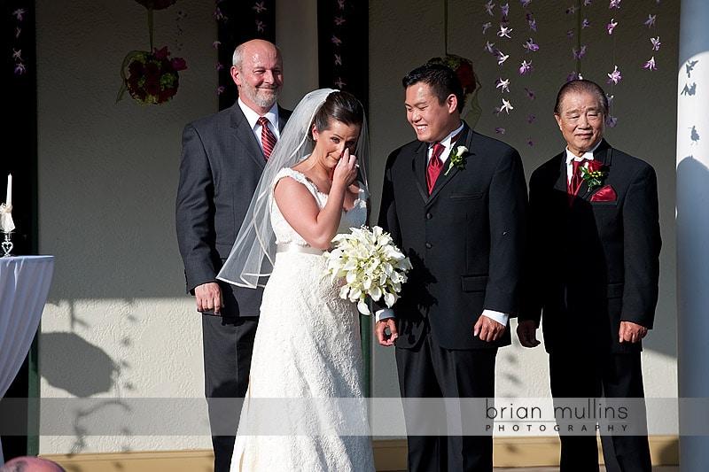 wedding ceremony at preston woodall house