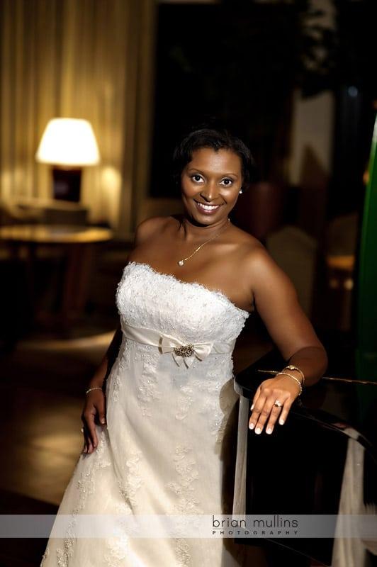 bridal portraits at night