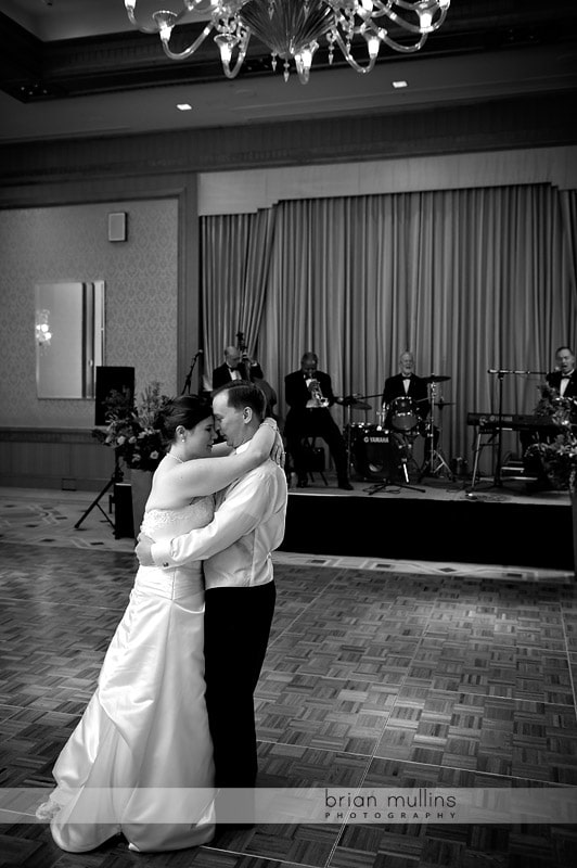 bride and groom dance at the umstead hotel