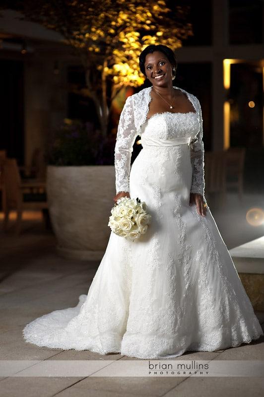 evening bridal portrait