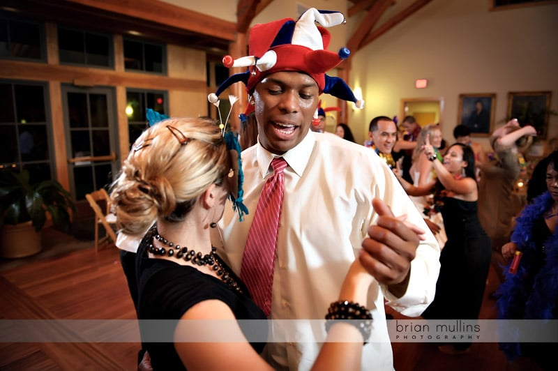 fun wedding reception dancing