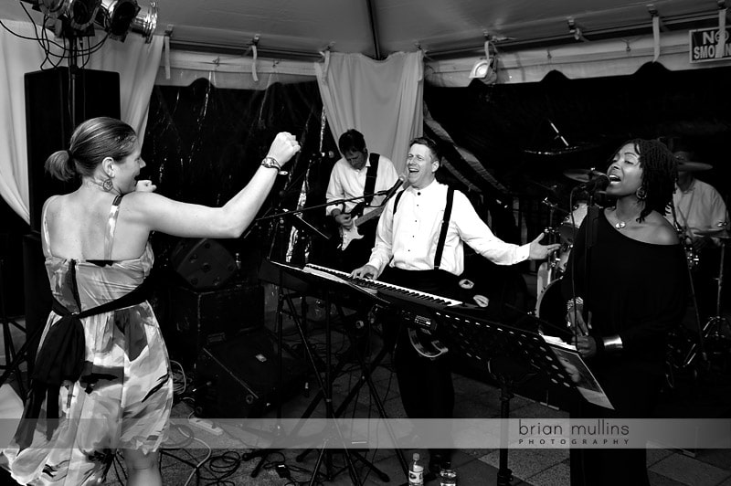 live band at wedding
