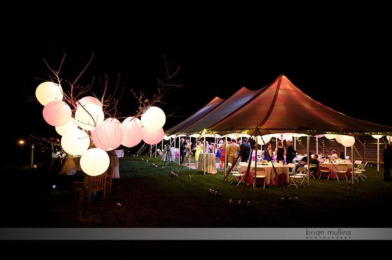 mast farm inn tent at night