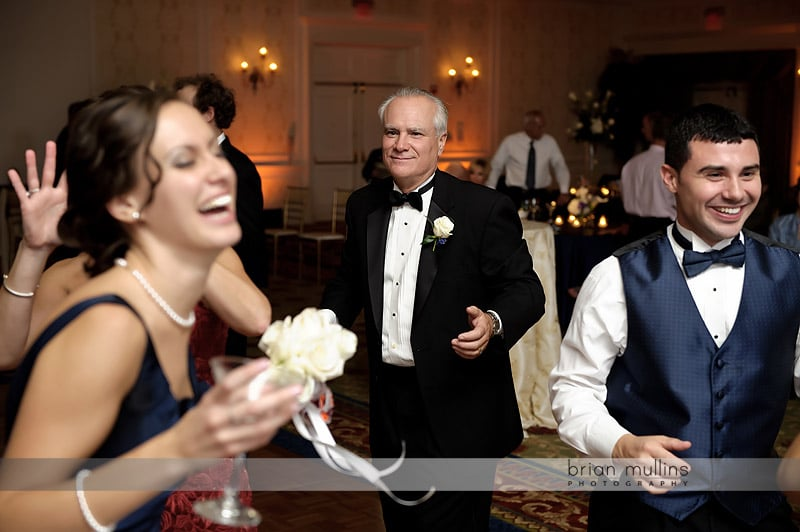 father of bride at wedding reception