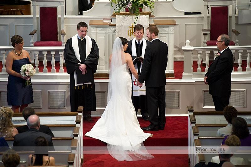 wedding at hayes barton church