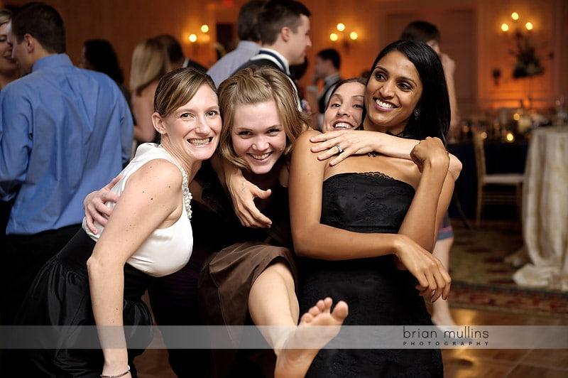 fun wedding reception photo