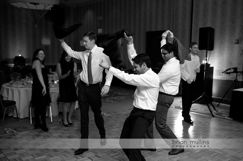 crazy wedding reception guests
