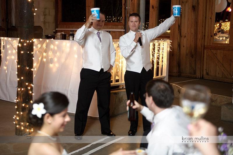 wedding toast to bride and groom