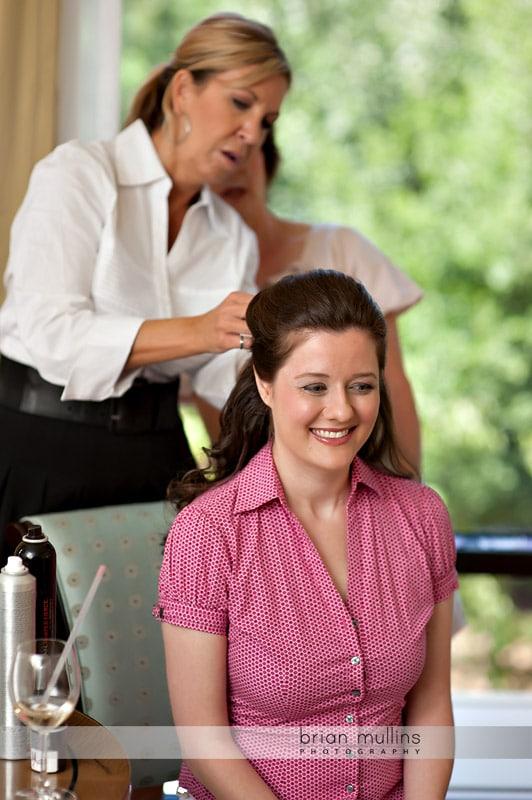 Wedding preperation at Umstead Hotel