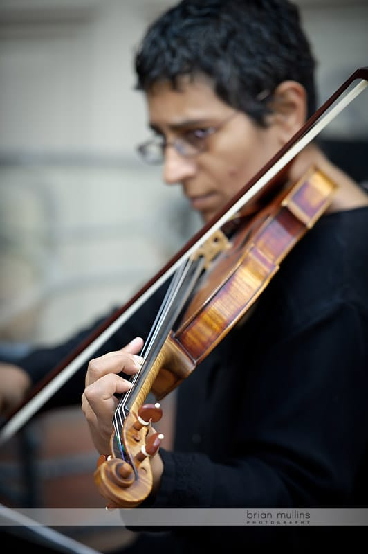 arioso strings at wedding
