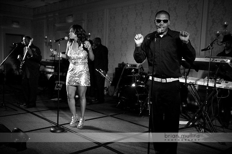 live band at wedding reception