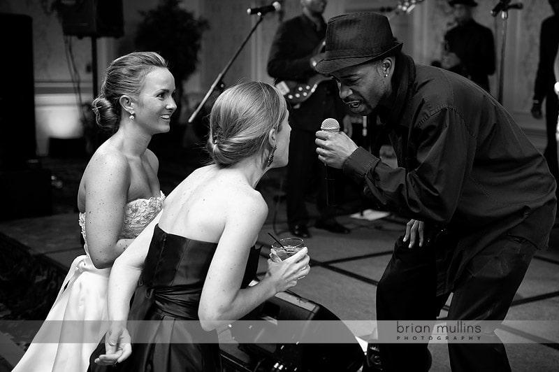 live singing at wedding reception