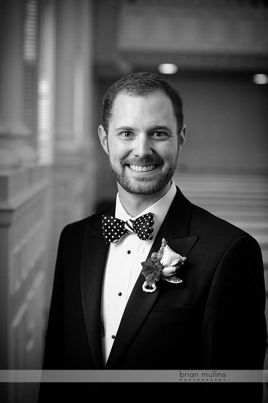wedding day groom portrait