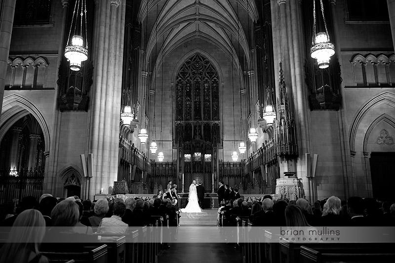 wedding ceremony at duke chapel